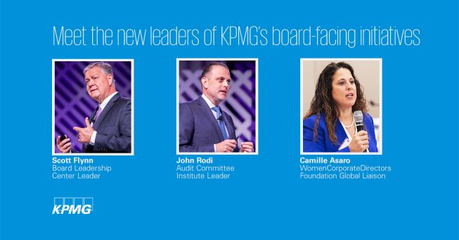 New leaders for KPMG's board-facing initiatives - thumbnail image